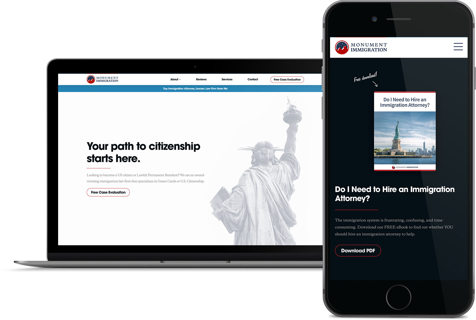 monument immigration website